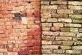 Twin brick walls Stock Photos