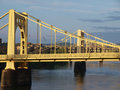 Twin Bridges in Pittsburgh Stock Photo