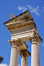 Twin Corinthian Temple in Glanum Stock Photography