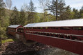 Twin Covered Bridges Forks Pennsylvania Stock Photo