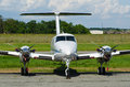 Twin-engine plane Royalty Free Stock Photo