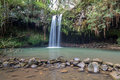 Twin Falls on the island of Maui Royalty Free Stock Photo