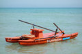 Twin hulled rowboat sea rescue offshore photo of a at the Royalty Free Stock Photo