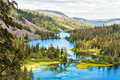Twin lakes beautiful near mammoth at inyo national forest park california Royalty Free Stock Photo