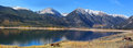 Twin lakes recreation area panoramic view of Stock Photos