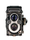 Twin lens reflex phot camera Royalty Free Stock Photo
