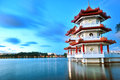 Twin Pagoda by the Lake Royalty Free Stock Photography