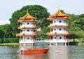 Twin pagodas Royalty Free Stock Photo