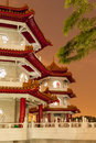 Twin Pagodas in Chinese Gardens Royalty Free Stock Photo