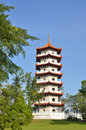 Twin pagodas at Singapore Chinese Gardens Royalty Free Stock Photo
