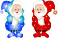 Twin Santa Royalty Free Stock Image