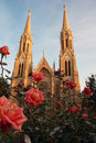 Twin spire cathedral Royalty Free Stock Photo