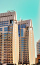 Twin Tower Building in Dubai Marina Royalty Free Stock Photo