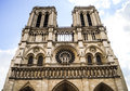 Twin Tower of Norte Dame Royalty Free Stock Photos