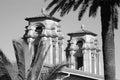 Twin towers of bloemfontein city hall in monochrome Stock Photo