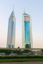 Twin towers in Dubai Royalty Free Stock Photo