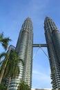 Twin towers in kuala lumpur malaysia Royalty Free Stock Photo