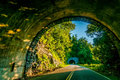 Twin tunnel blue ridge parkway landscapes early morning Stock Photography