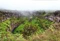 Twin Volcanic Craters on Santa Cruz Island. Ecuador Royalty Free Stock Photo