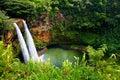 Twin Wailua Waterfalls On Kaua...