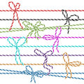 Twine bows collection of multicolored in style Stock Photo