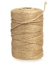 Twine cord roll of isolated on white background Royalty Free Stock Images