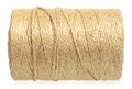 Twine cord roll of isolated on white background Royalty Free Stock Photography