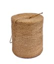 Twine reel packing made of natural fibers on a white background Stock Photography