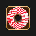 Twine roll icon can used for ios apps Royalty Free Stock Photography