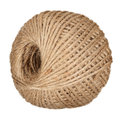 Twine skein of jute isolated on the white background Stock Photography