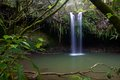 Twinfalls on the north side of maui hawaii view from within trees famous in Stock Photos