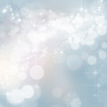 Twinkling Christmas winter lights background Royalty Free Stock Photo