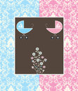 Twins Baby Shower Invitation Stock Image