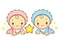 Twins constellation character design zodiac character design series Royalty Free Stock Photography