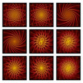 Twirl Burst collection backgrounds Stock Image