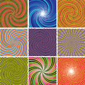 Twirl colorful backgrounds vector set of Royalty Free Stock Photo