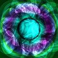 Twirl luminous light green purple abstract background. Royalty Free Stock Photo