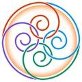 Twirls design Royalty Free Stock Photo