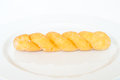 Twist bread on white background Stock Images