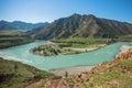 Twist Katun river in the Altai Mountains Royalty Free Stock Photo