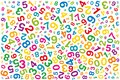 Twisted colored numbers on white background Royalty Free Stock Photo