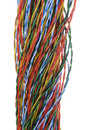 Twisted colored wires Stock Photo
