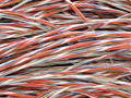 Twisted copper wires Stock Images