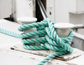 Twisted green rope Royalty Free Stock Photography