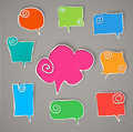 Twisted hand drawn speech bubbles eps Royalty Free Stock Photo