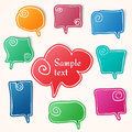 Twisted hand drawn speech bubbles eps Stock Images