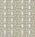 Twisted loops in seamless pattern retro with weaving lines Stock Image