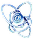 Twisted metal and email icon Stock Images