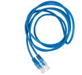 Twisted pair blue network cable Royalty Free Stock Photo