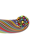 Twisted rainbow color string shape on white Royalty Free Stock Photo
